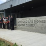 "The Sanford Lab Homestake Visitor Center, a facility that highlights Homestake Mine's gold and silver past and particle physics future, held its grand opening ceremony on June 30. Berkeley Lab scientists have been key players in the creation and management of the lab. <a href=""http://newscenter.lbl.gov/2015/07/14/new-visitor-center-in-south-dakota-highlights-underground-science/"">More></a>"