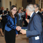 The prestigious Italian National Academy of Science, which counts Galileo Galilei as one of its first members, assigns this prize to a top young scientist. Toma (Chemical Sciences) was honored for her prolific, high-quality scientific contribution in different aspects of nanotechnology. The ceremony took place on June 10 in Rome, which was attended by President of Italy Sergio Mattarella.